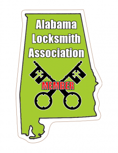 Our Gulf Shores Locksmiths Train with the Alabama Locksmith Association. Member in Good Standing as of 2018.